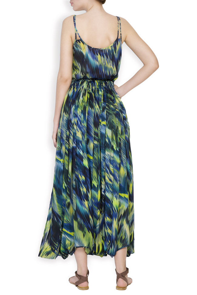 Silk-blend printed maxi skirt Daniela Barb image 2