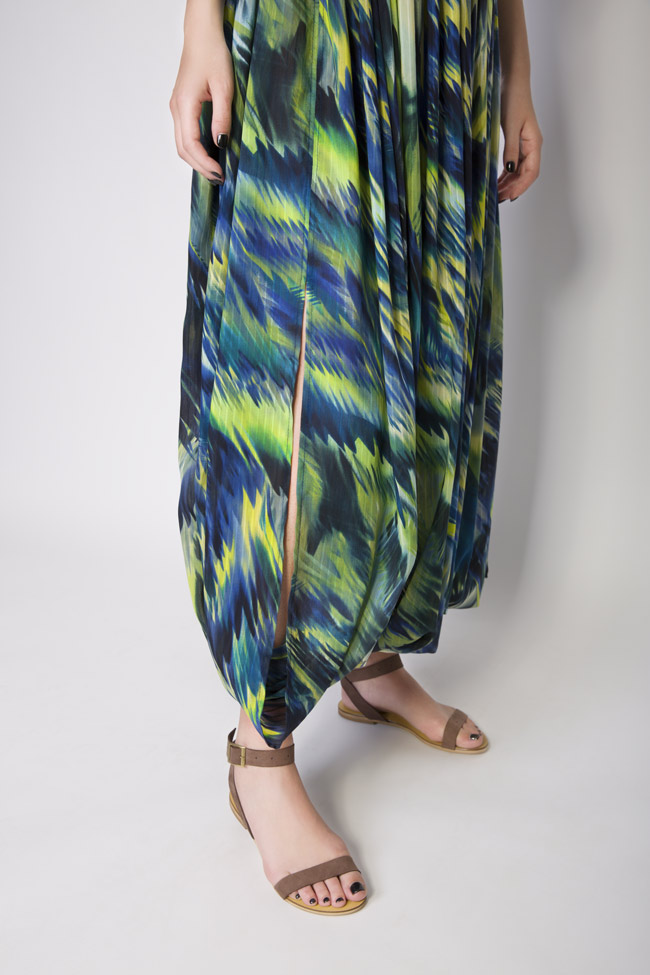 Silk-blend printed maxi skirt Daniela Barb image 6