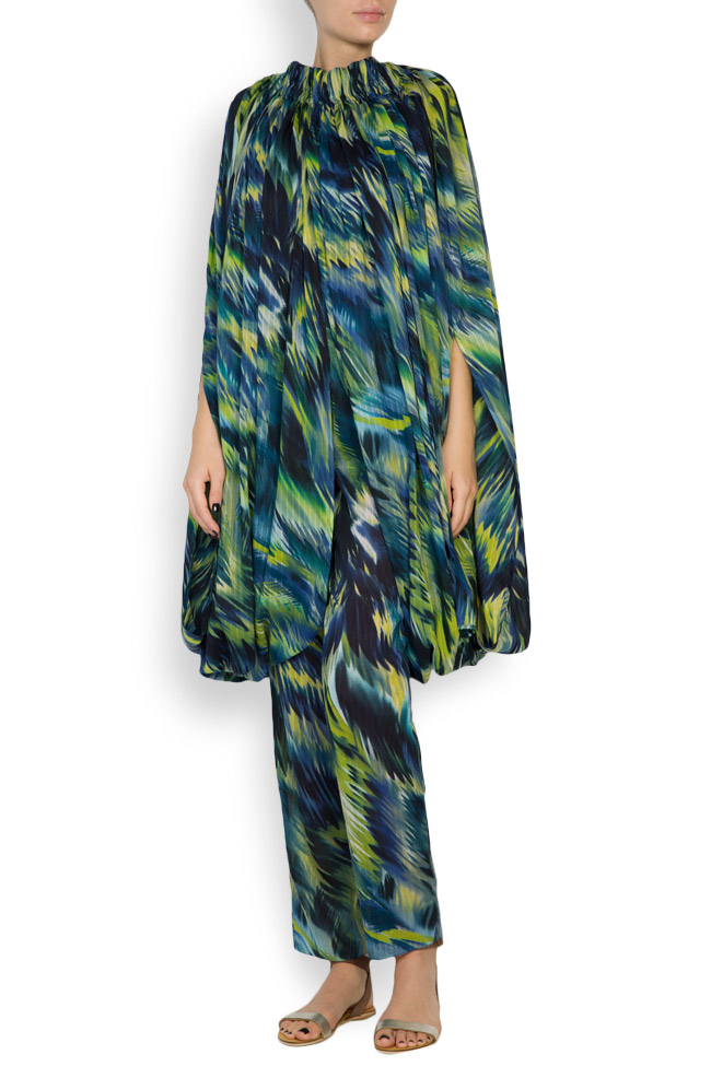 Silk-blend printed maxi skirt Daniela Barb image 3