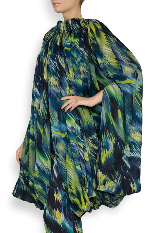 Silk-blend printed maxi skirt Daniela Barb image 4
