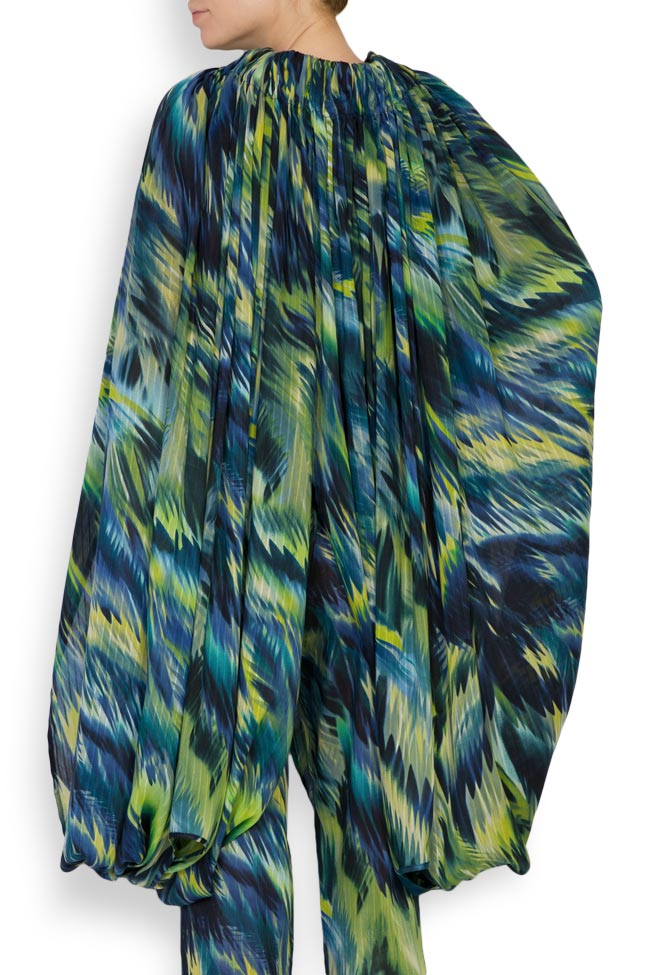 Silk-blend printed maxi skirt Daniela Barb image 5