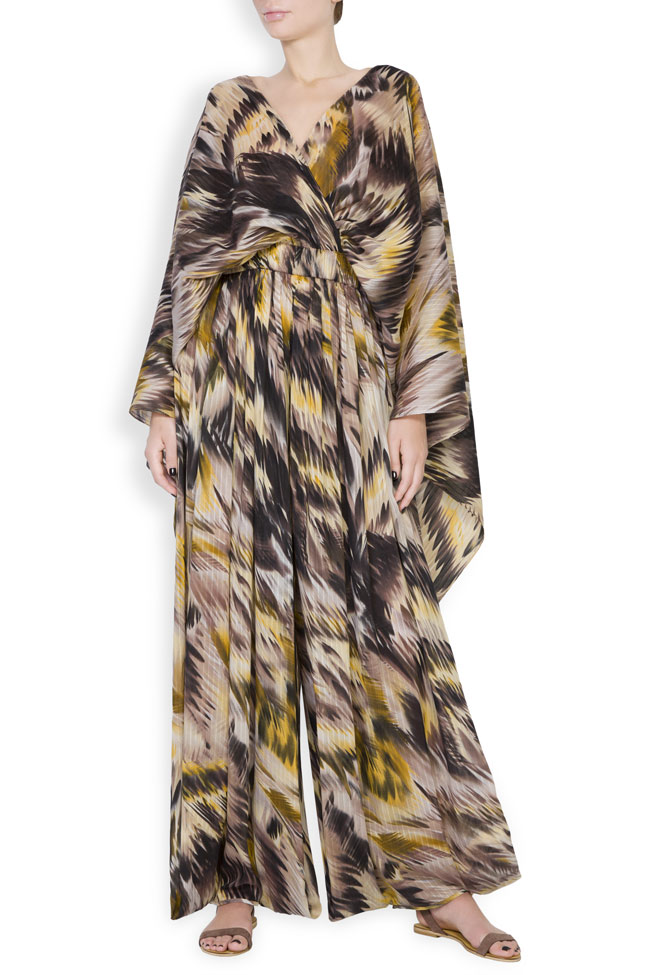 Silk-blend printed jumpsuit Daniela Barb image 0