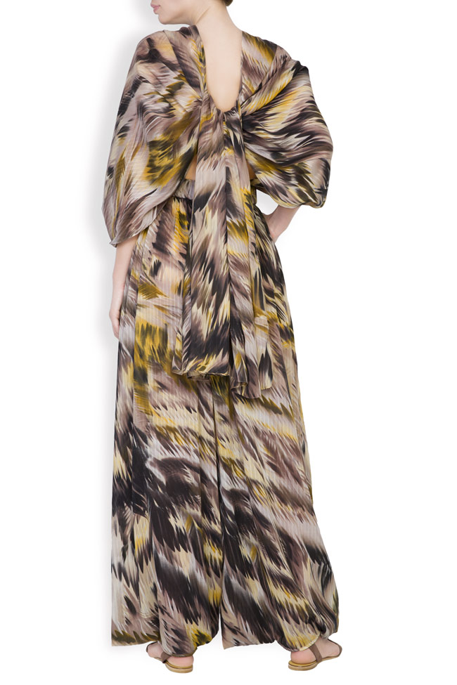 Silk-blend printed jumpsuit Daniela Barb image 3