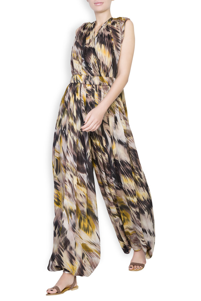 Silk-blend printed jumpsuit Daniela Barb image 1