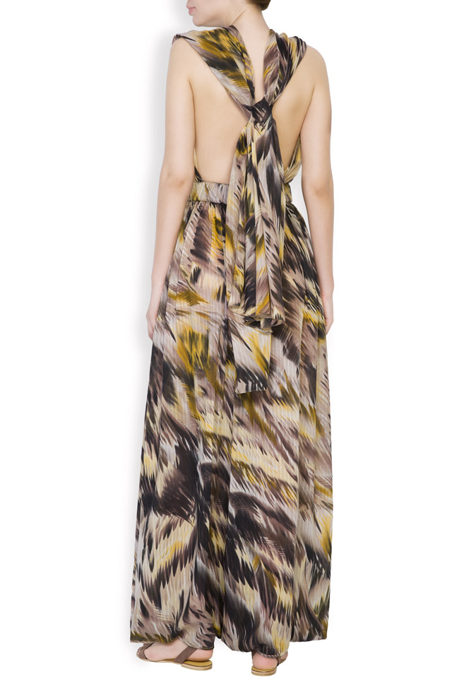 Silk-blend printed jumpsuit Daniela Barb image 2