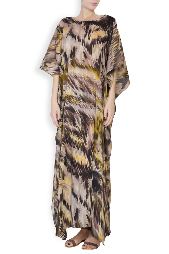 Silk-blend asymmetric printed maxi dress Daniela Barb image 0