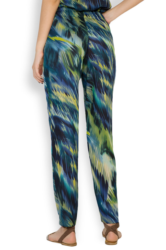 Silk-blend printed pants Daniela Barb image 2