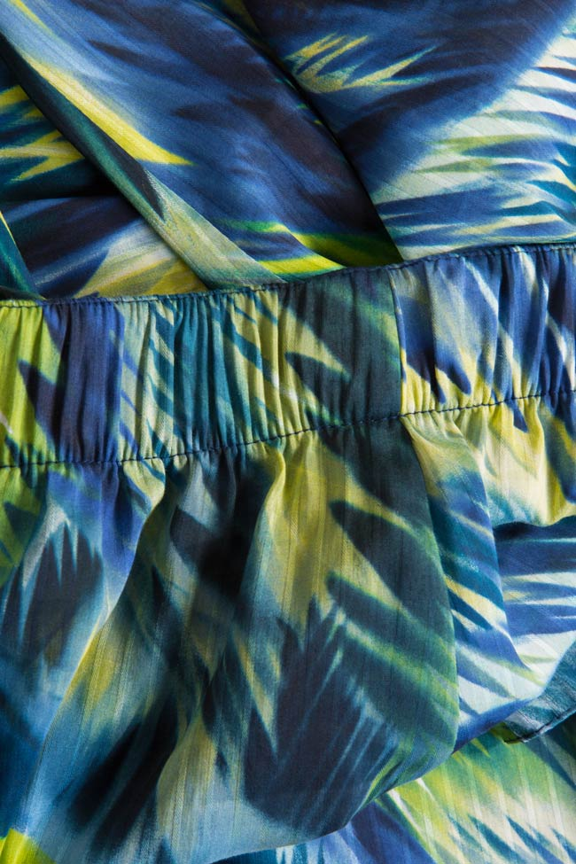 Silk-blend printed pants Daniela Barb image 4