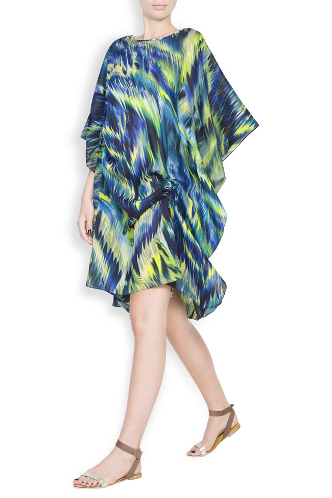 Silk-blend asymmetric printed maxi dress Daniela Barb image 1