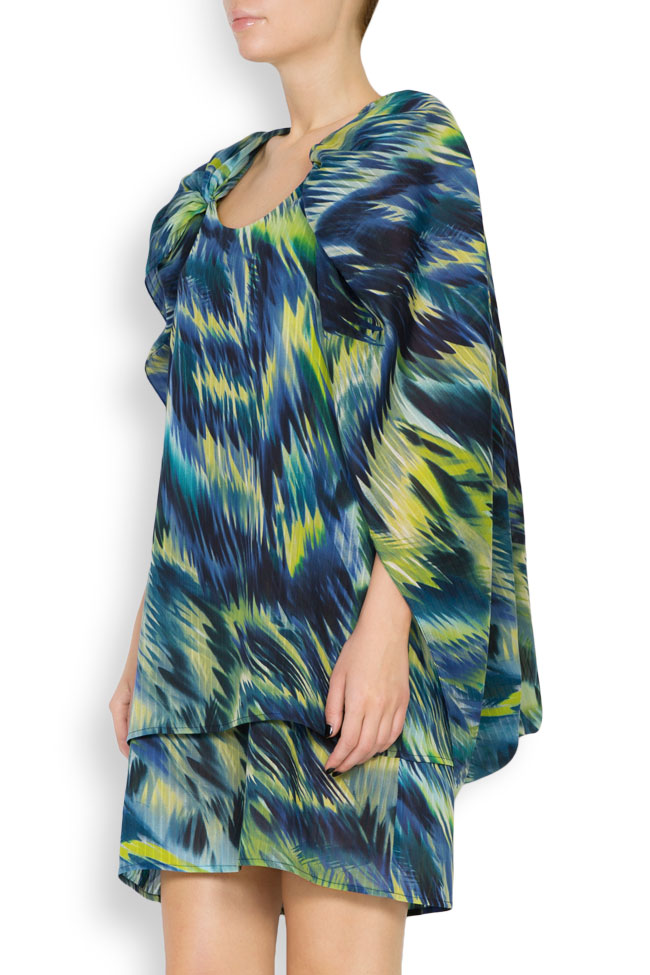 Hooded silk-blend printed maxi dress Daniela Barb image 1