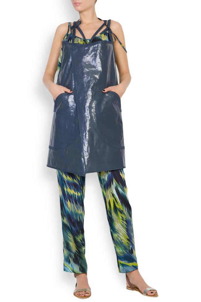 Robe type tablier en mélange de lin enduit Daniela Barb image 0