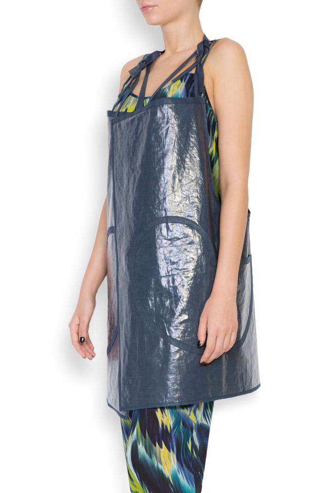 Robe type tablier en mélange de lin enduit Daniela Barb image 1