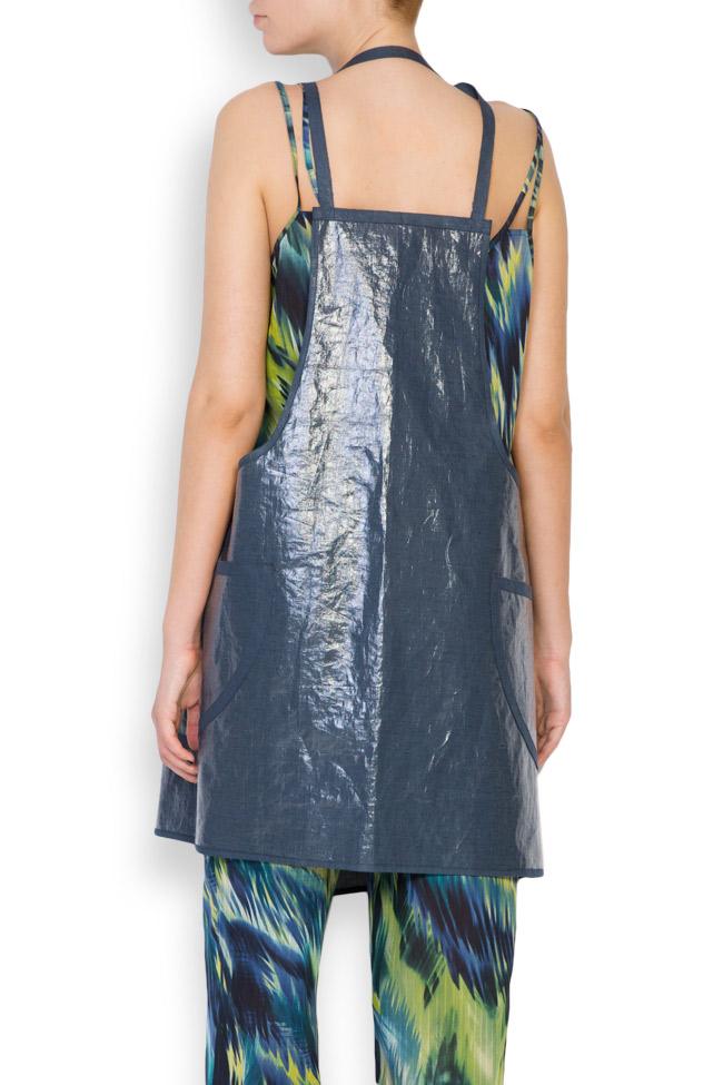Robe type tablier en mélange de lin enduit Daniela Barb image 2
