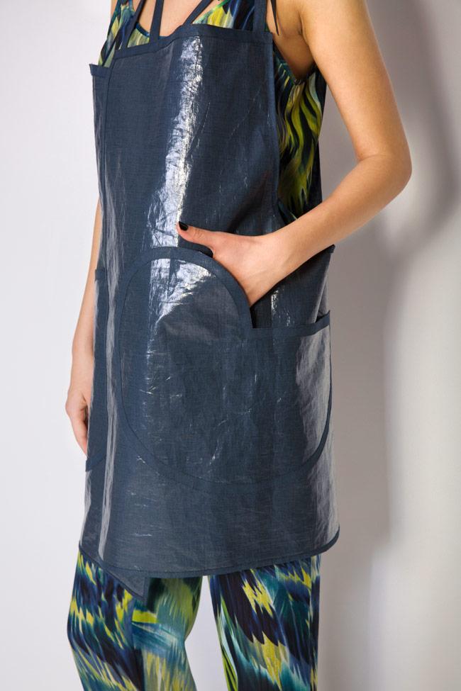 Robe type tablier en mélange de lin enduit Daniela Barb image 3