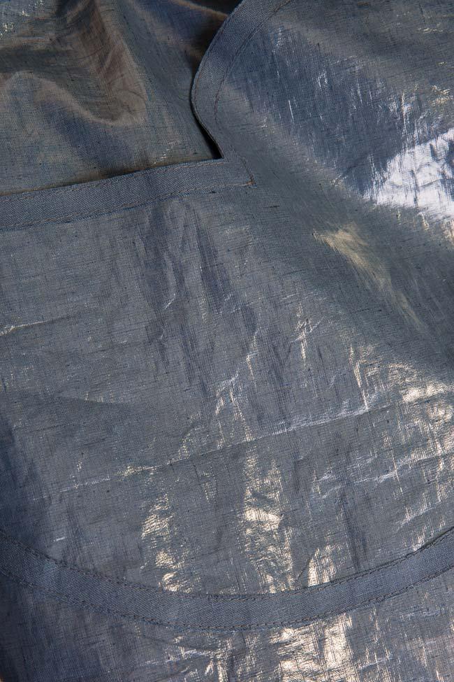 Robe type tablier en mélange de lin enduit Daniela Barb image 4