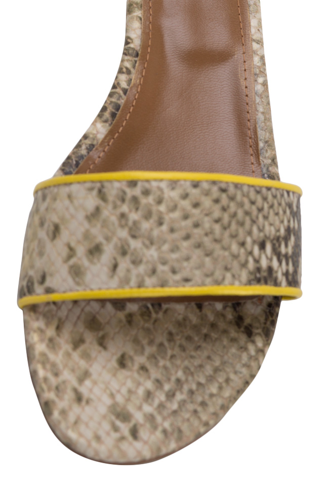 Sandale din piele tip sarpe Zaza10 Ginissima imagine 3