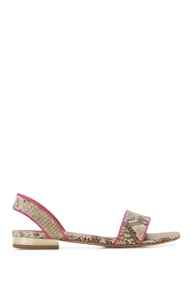Sandale din piele tip sarpe Zaza10 Ginissima imagine 0