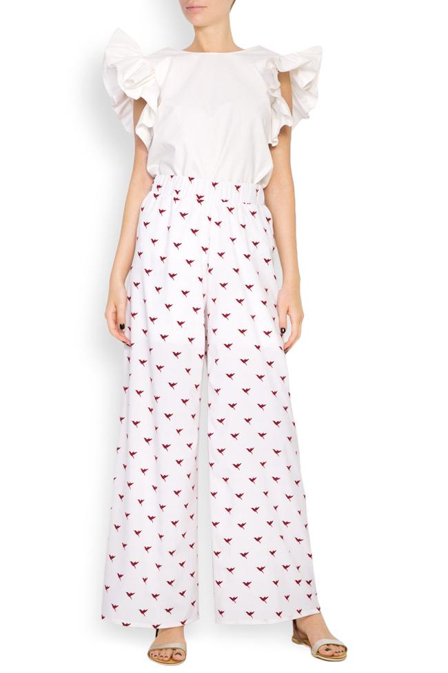 Pantalon en crêpe avec imprimé Hard Coeur image 0