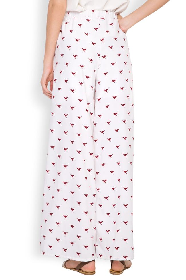 Pantalon en crêpe avec imprimé Hard Coeur image 2