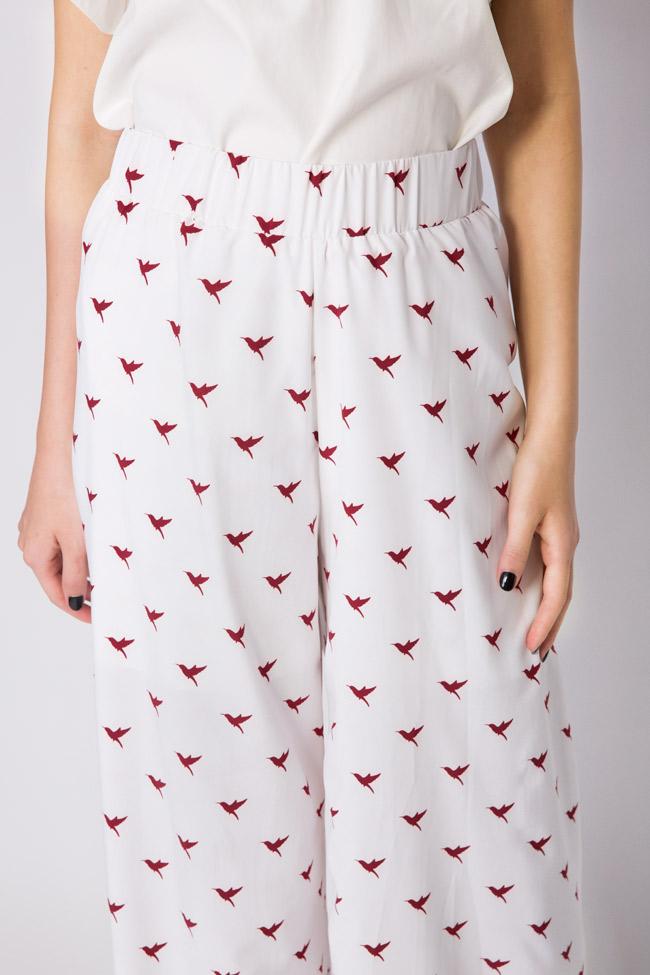 Pantalon en crêpe avec imprimé Hard Coeur image 3