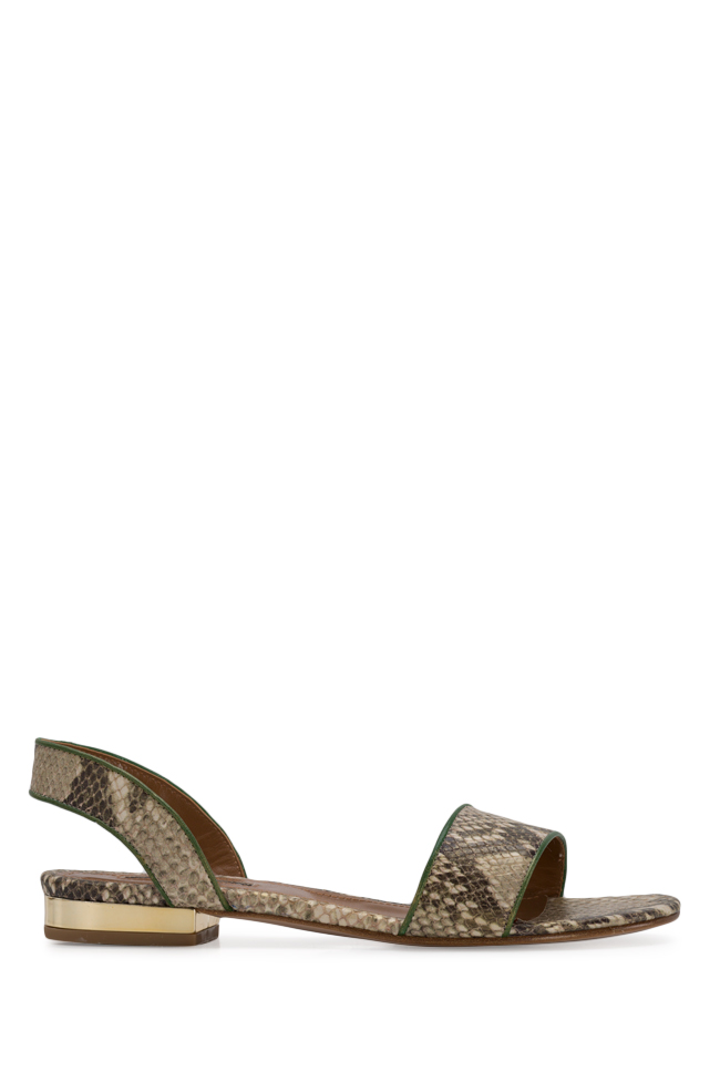 Zaza10 snake-effect leather sandals Ginissima image 0