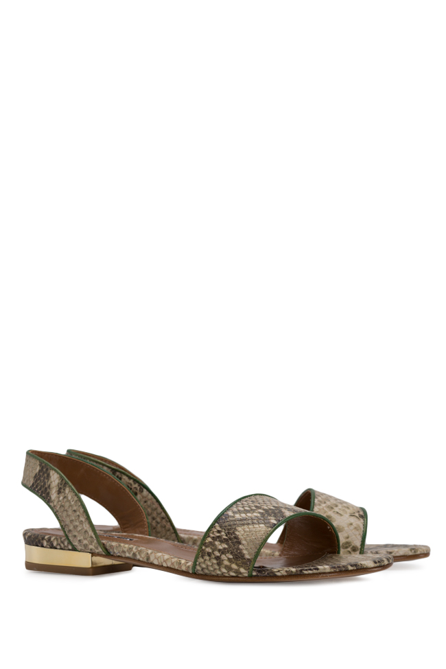 Zaza10 snake-effect leather sandals Ginissima image 1