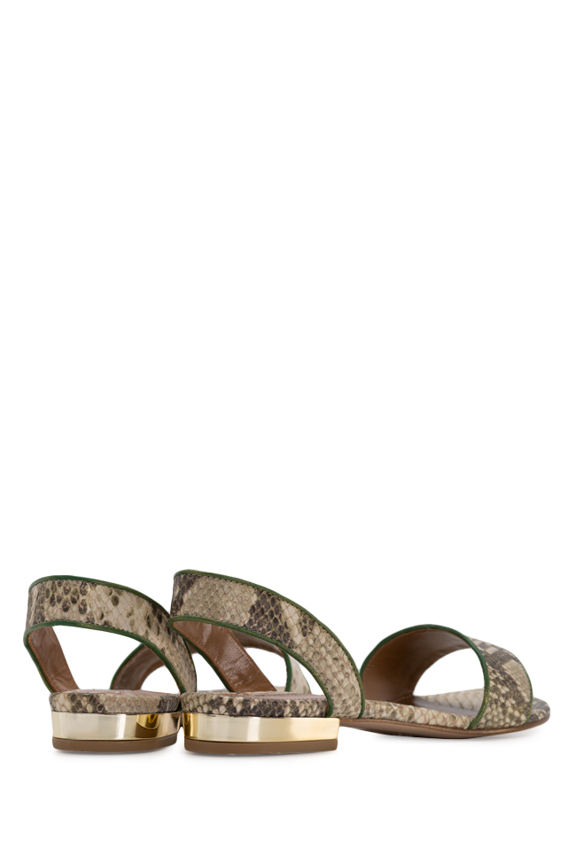 Zaza10 snake-effect leather sandals Ginissima image 2