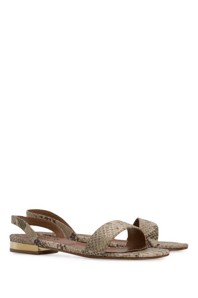 Sandale din piele tip sarpe Zaza10 Ginissima imagine 1
