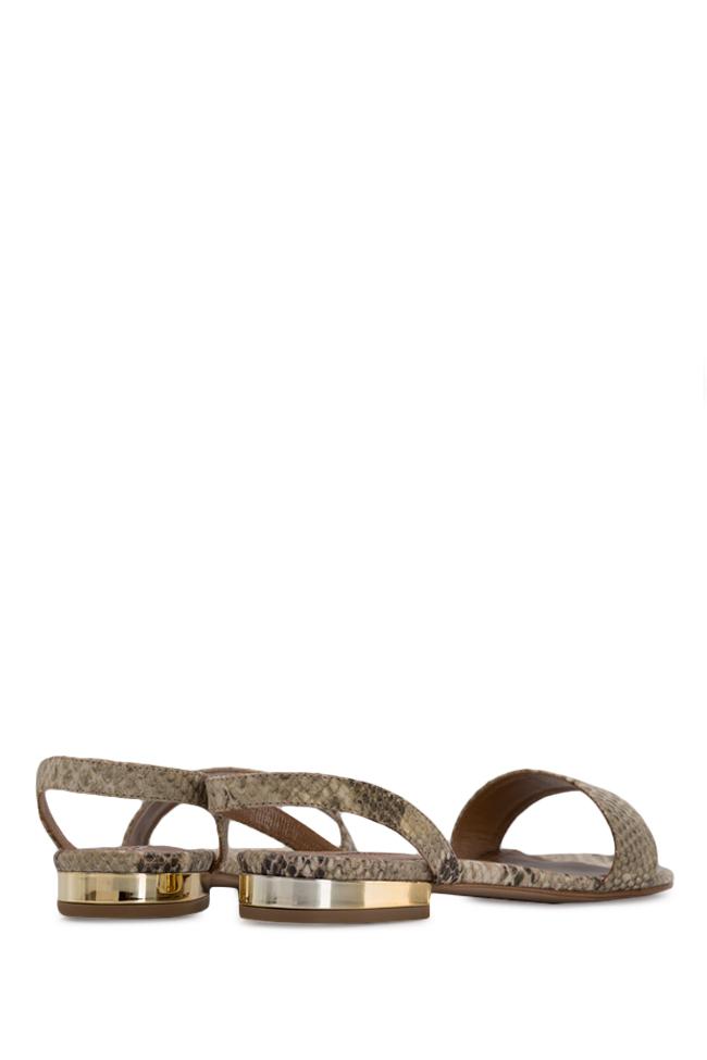 Sandale din piele tip sarpe Zaza10 Ginissima imagine 2