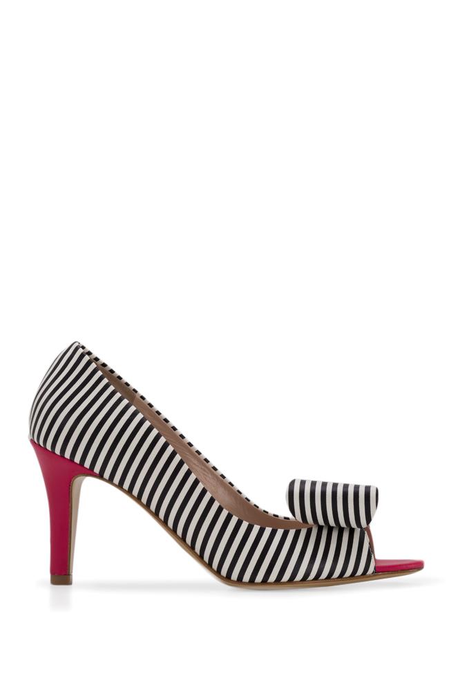 Chaussures en cuir à rayures et nœud stylisé Agata75 Ginissima image 0