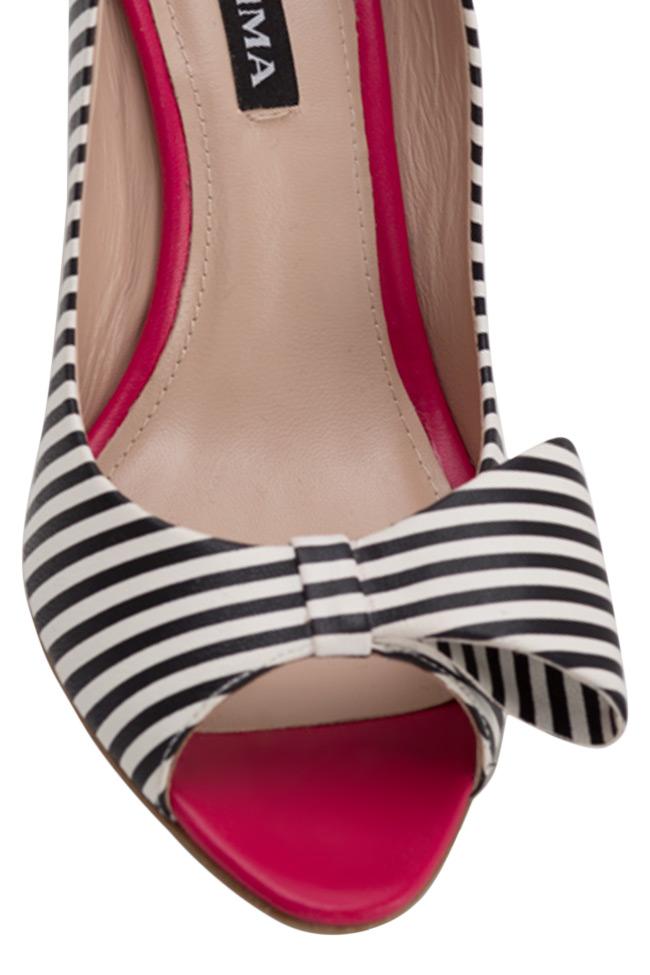 Chaussures en cuir à rayures et nœud stylisé Agata75 Ginissima image 3