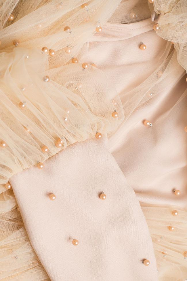 Blouse avec coupe ample en tulle avec perles BADEN 11 image 3