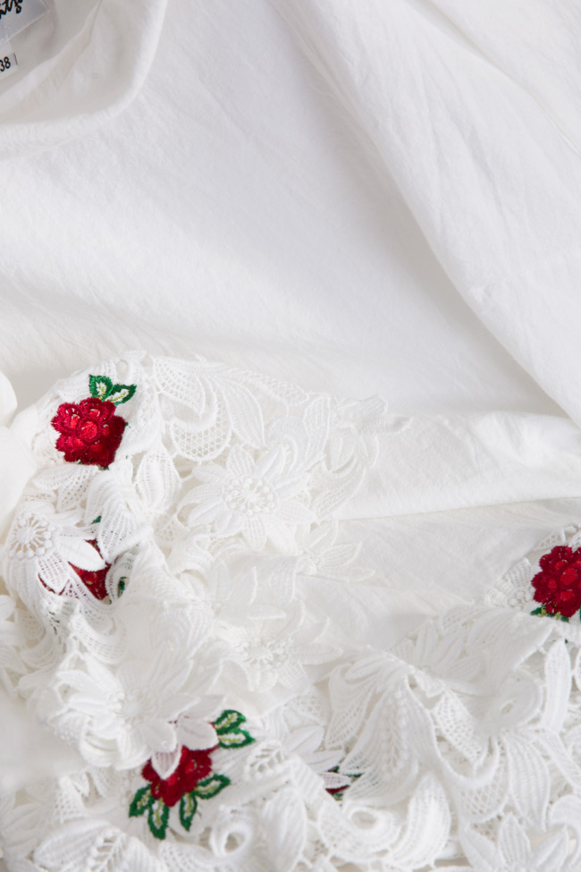 Blouse en lin avec broderie de dentelle Romanitza by Romanita Iovan image 4