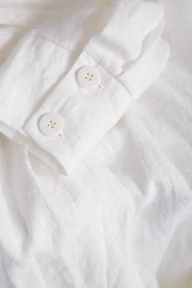 Robe asymétrique en lin avec les épaules dénudées Romanitza by Romanita Iovan image 4