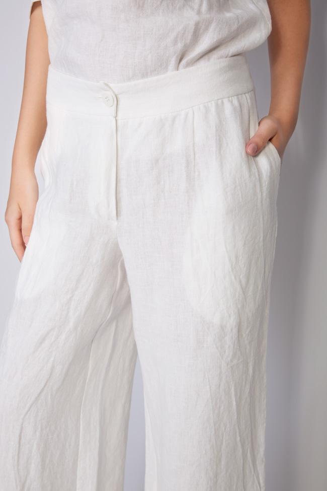 Pantaloni din in Romanitza by Romanita Iovan imagine 3