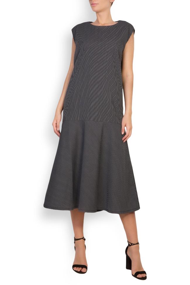 Robe en coton imprimé à rayures Undress image 0