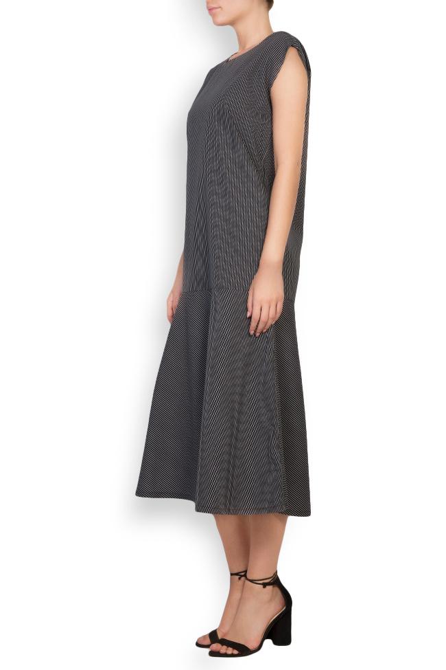 Robe en coton imprimé à rayures Undress image 1