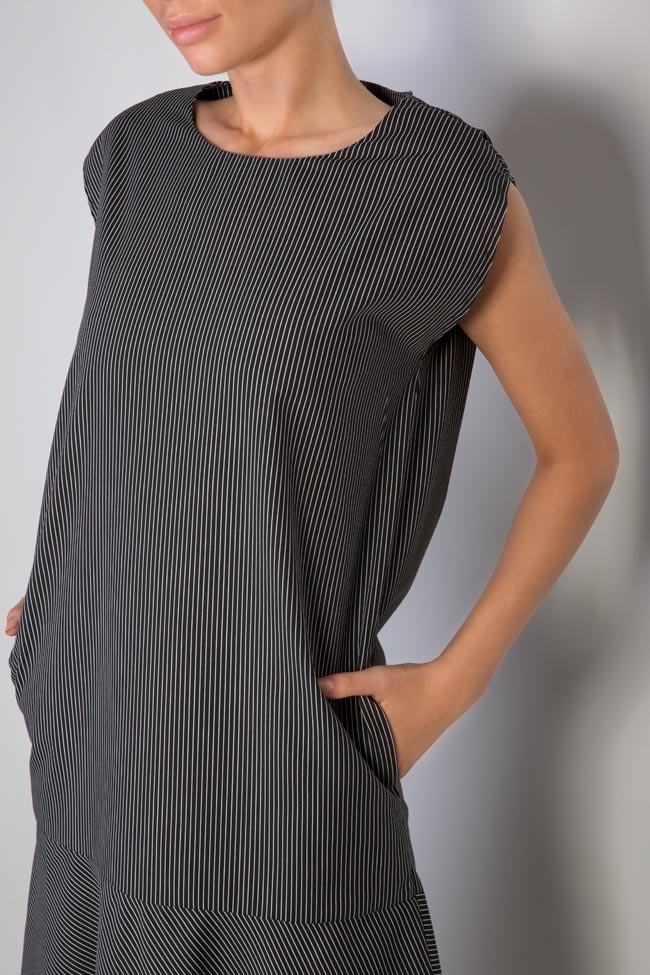 Robe en coton imprimé à rayures Undress image 3