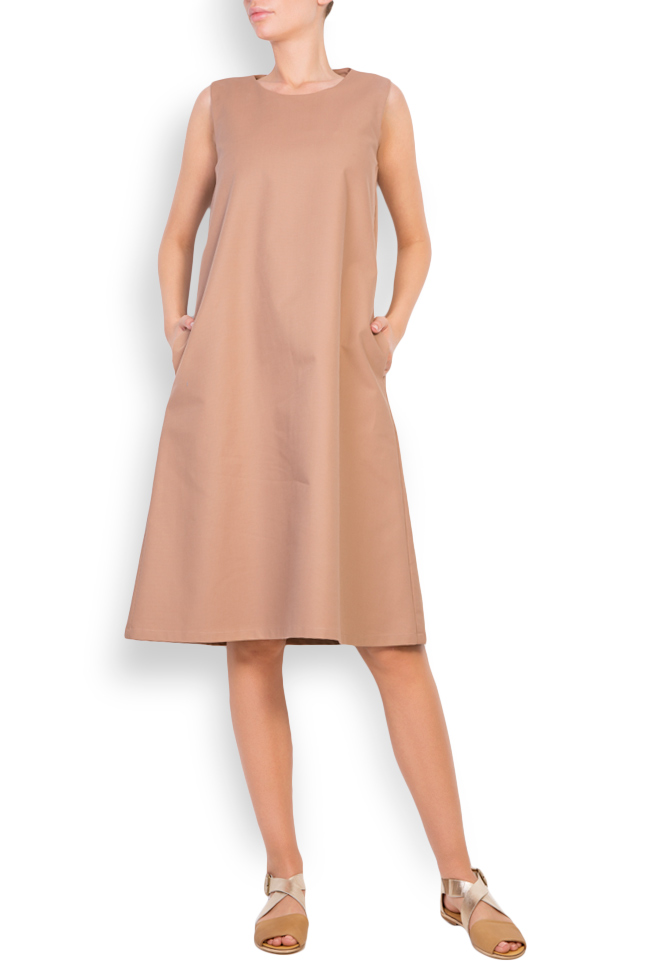 Open-back cotton midi dress Undress image 0