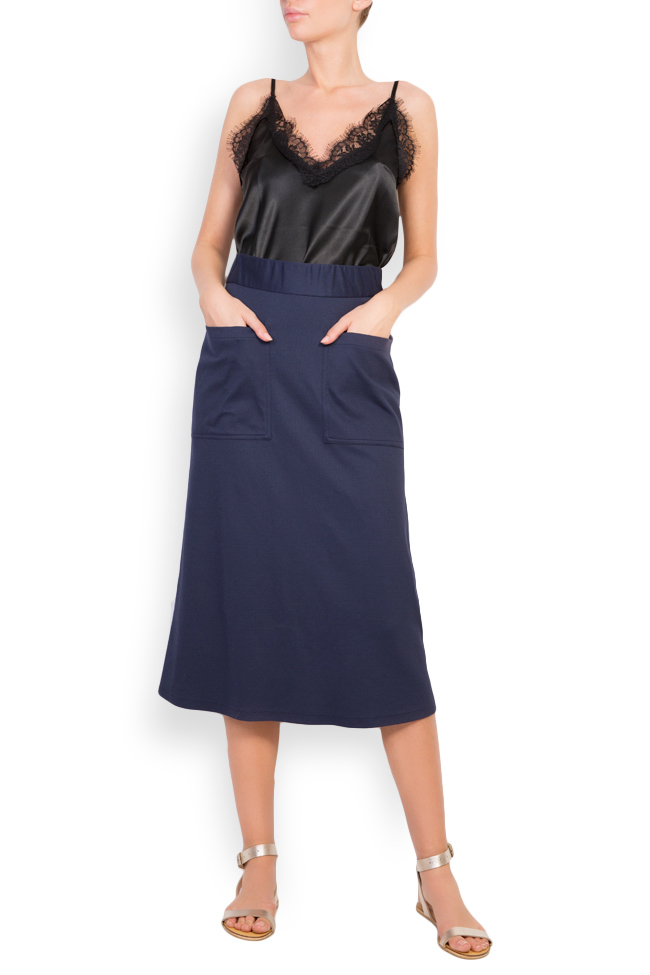 Cotton-blend jersey skirt Undress image 0