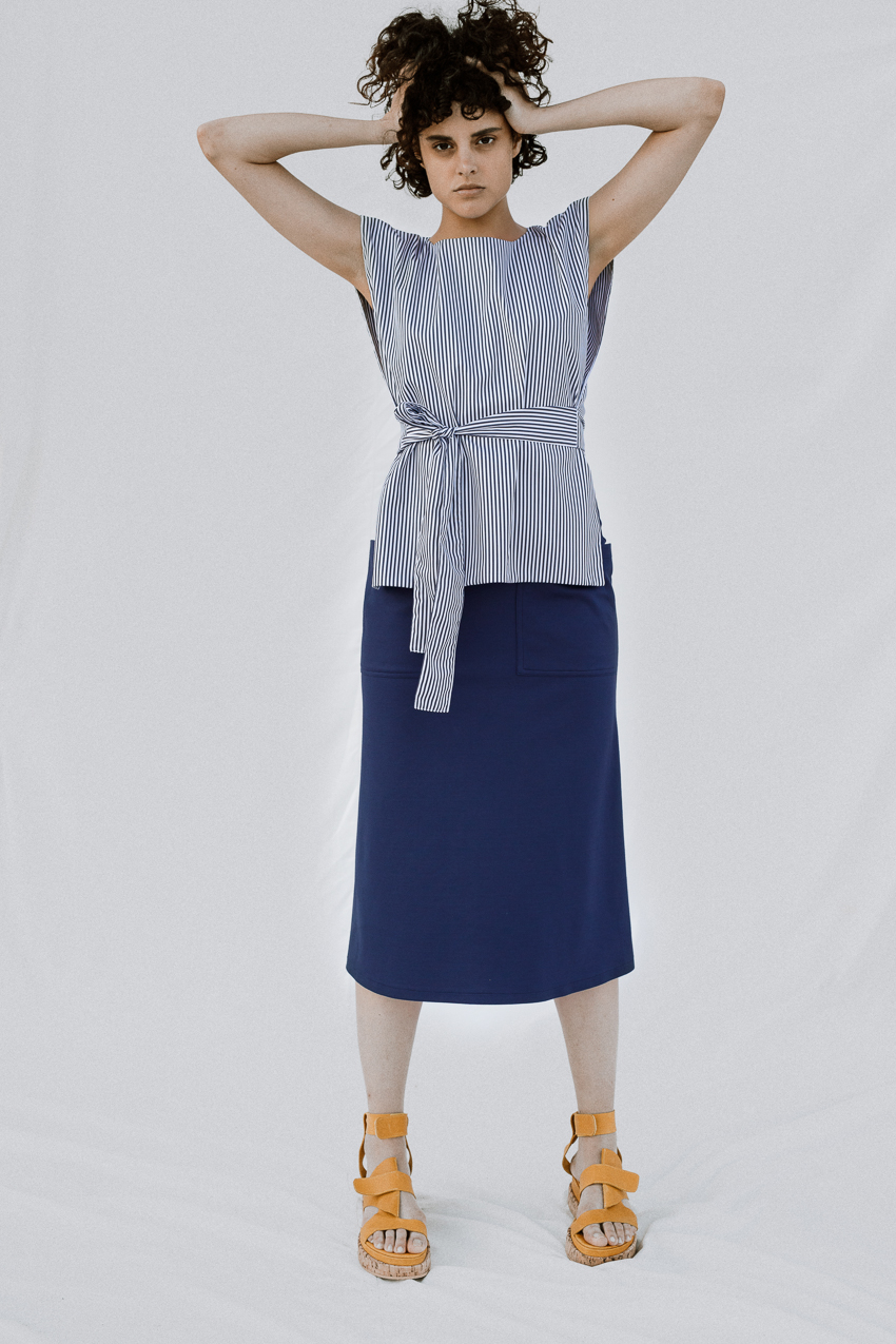 Cotton-blend jersey skirt Undress image 4