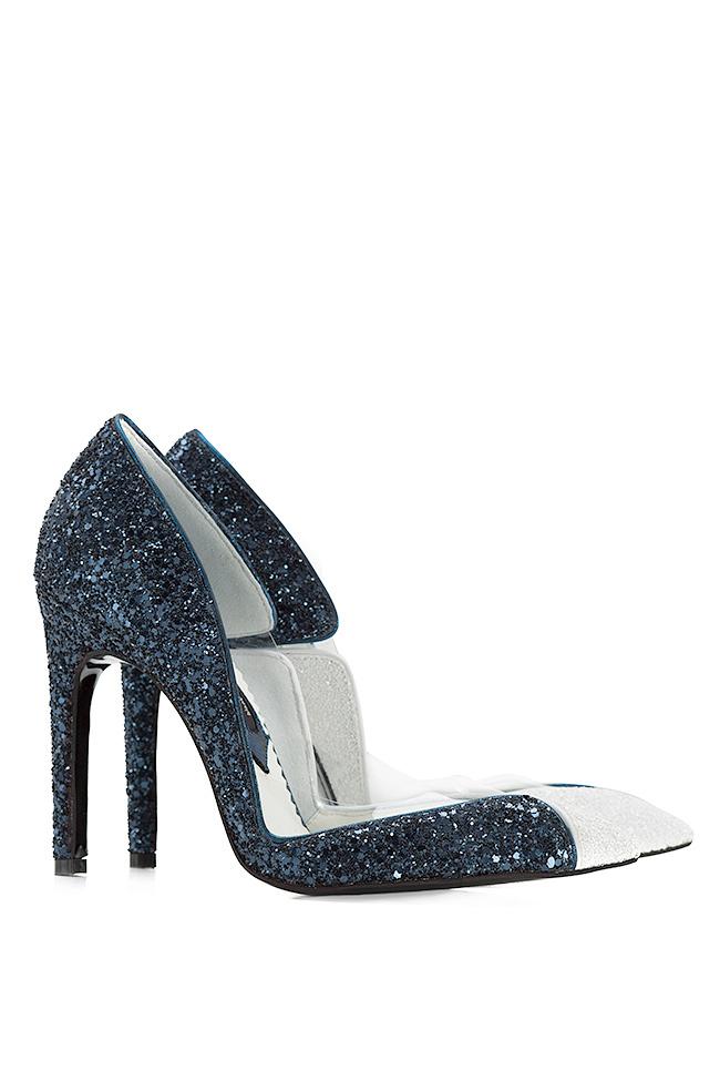 Chaussures en cuir avec paillettes et insertions de PVC Cruella Mihai Albu image 1