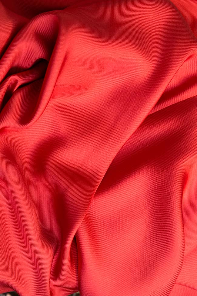 Tiger Lily asymmetric silk midi skirt DALB by Mihaela Dulgheru image 4