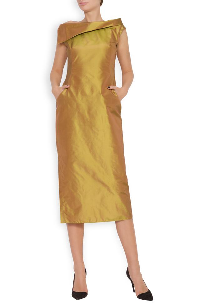 Helen silk taffeta midi dress DALB by Mihaela Dulgheru image 0