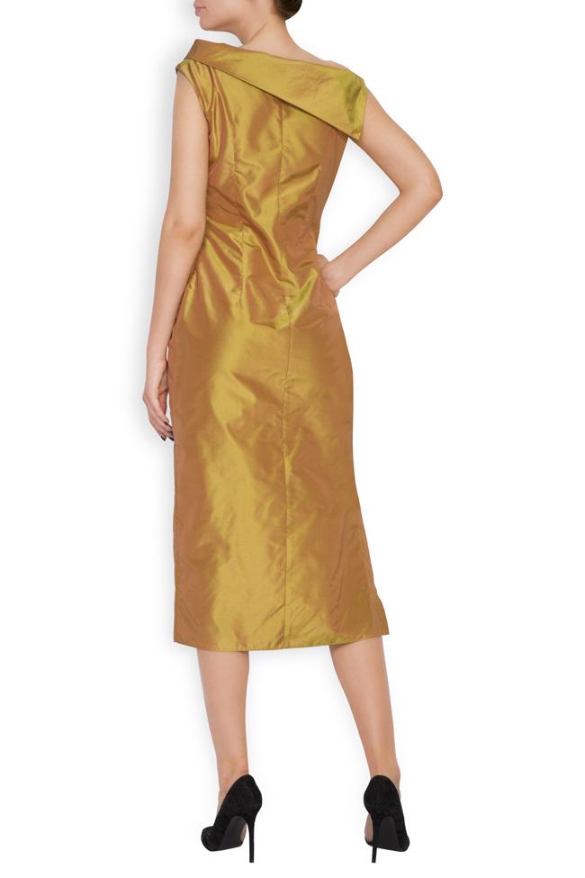 Helen silk taffeta midi dress DALB by Mihaela Dulgheru image 2