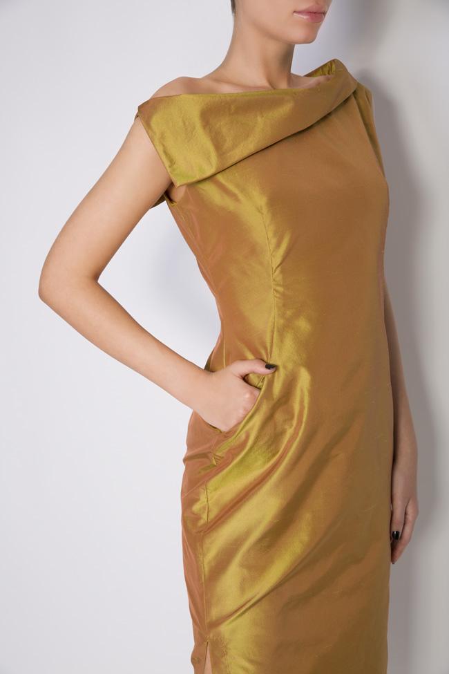 Helen silk taffeta midi dress DALB by Mihaela Dulgheru image 3