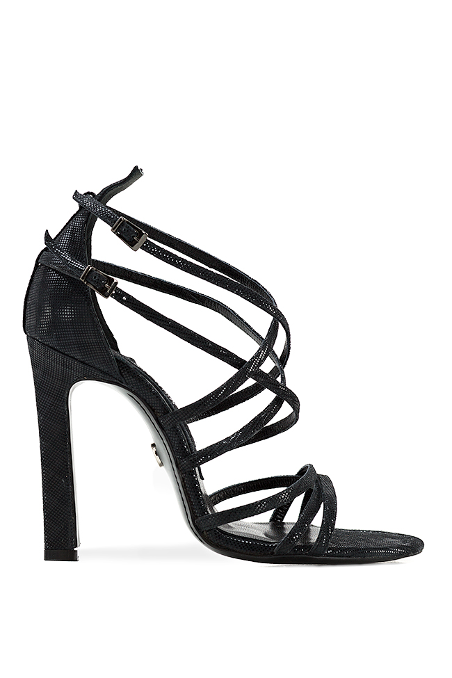 Metallic leather sandals Mihai Albu image 0
