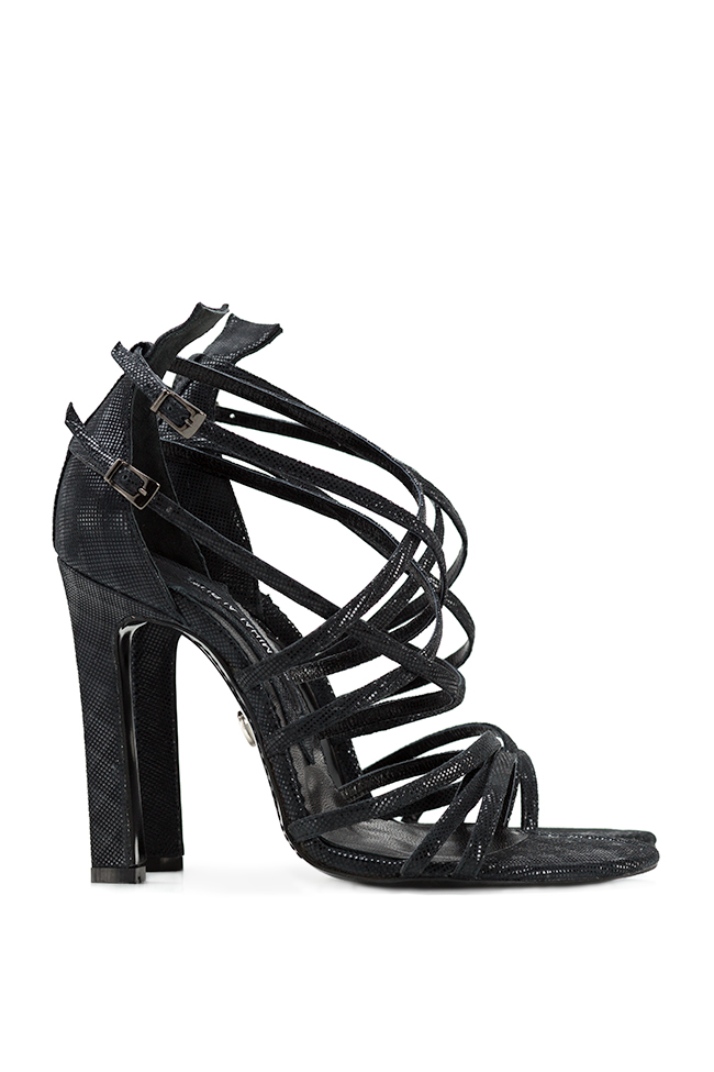 Metallic leather sandals Mihai Albu image 1