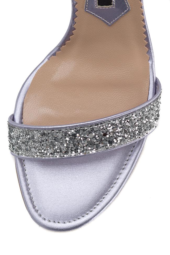 Sandale din piele cu glitter Mihai Albu imagine 3