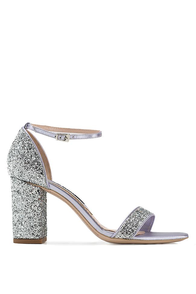 Sandale din piele cu glitter Mihai Albu imagine 0
